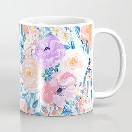 Modern watercolor garden floral paint Coffee Mug