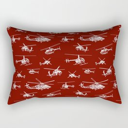 Helicopters on Maroon Rectangular Pillow
