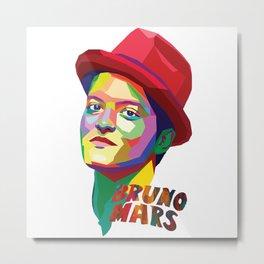 Bruno Marss WPAP Metal Print