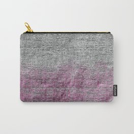Textured Silver Ultra Two Toned Abstract Carry-All Pouch