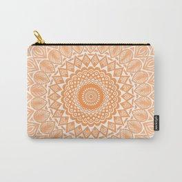 Orange Tangerine Mandala Detailed Textured Minimal Minimalistic Carry-All Pouch