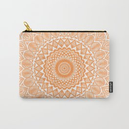 Orange Tangerine Mandala Detailed Textured Minimal Minimalistic Carry-All Pouch