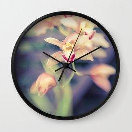 Hawaiian Orchid Wall Clock