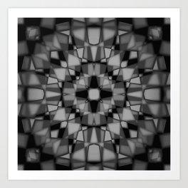 Dark kaleidoscope pattern Art Print