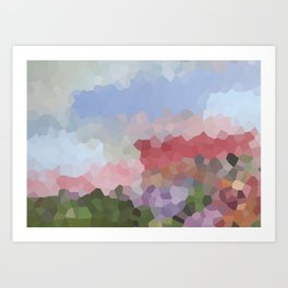 Abstract Flowers Sunny Day 1 Art Print