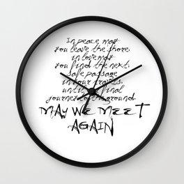 May we meet again Wall Clock