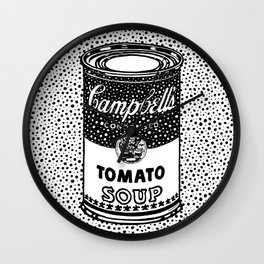 Campbell's Tomato Soup. AndyWarhol Wall Clock