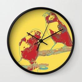 Abstract Sunshine Bird Illustration Wall Clock
