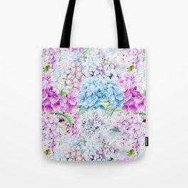 Multicolor Watercolor Hydrangea dream pattern Tote Bag