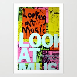To Look at Music Art Print