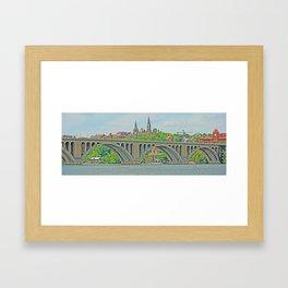 Key Bridge Framed Art Print