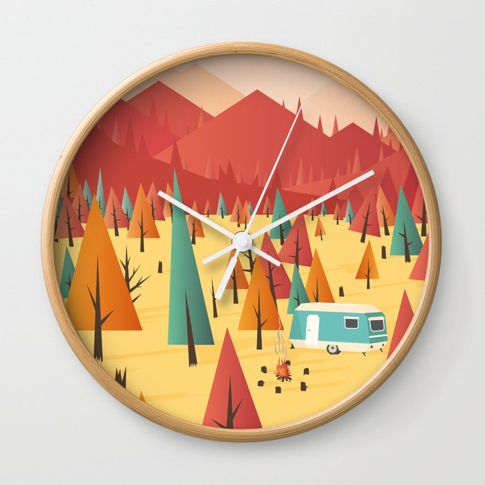 Go out wall clock by Roland Banrevi