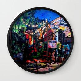 Nighttime Cafe Wall Clock