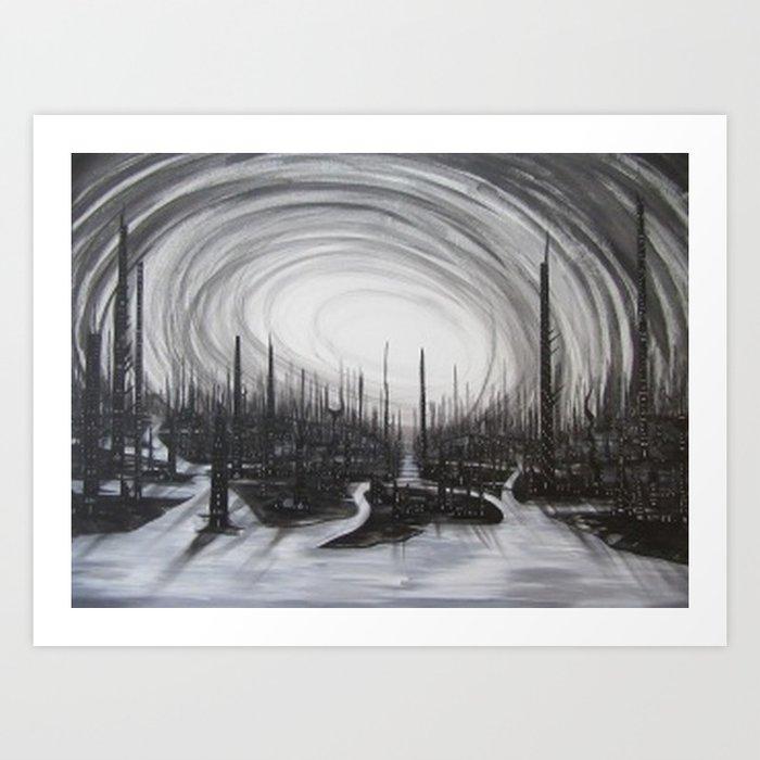 Ocean of Knives Art Print