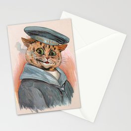 Sailor Cat - Louis Wain Cats Stationery Cards