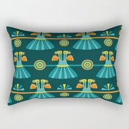 Columbian Bird Pattern Rectangular Pillow