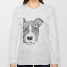 Staffordshire Terrier Dog Long Sleeve T-shirt