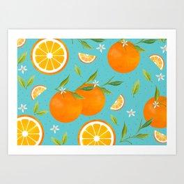 Teal Clementine Art Print