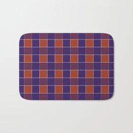 PLAID, RED AND BLUE Bath Mat