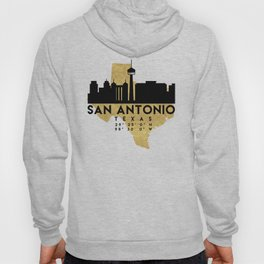 SAN ANTONIO TEXAS SILHOUETTE SKYLINE MAP ART Hoody