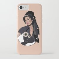 amy hamilton iPhone & iPod Cases featuring Amy  by Anna McKay