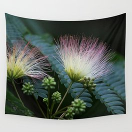 Mimosa Blossoms Wall Tapestry