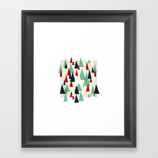 Abstract Forest by Friztin Framed Art Print