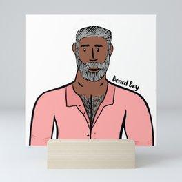 Beard Boy: Silver Fox Mini Art Print