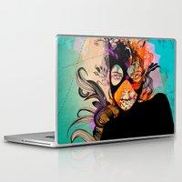 superheroes Laptop & iPad Skins featuring Superheroes SF by Irmak Akcadogan