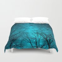 white Duvet Covers featuring Stars Can't Shine Without Darkness  by soaring anchor designs