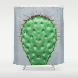 Prickly Pear Cactus Pad Shower Curtain