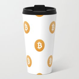 Bitcoin Logo Pattern Travel Mug