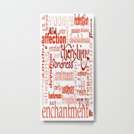 What Is Love Synonyms For Love Word Cloud Metal Print