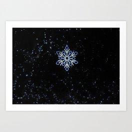Ice Blue Light - Selective Coloring Art Print