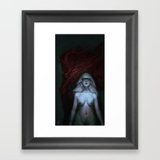 Dragon and Dew Framed Art Print