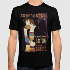 Le Fourth Doctor Black MEDIUM Mens Fitted Tee
