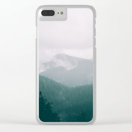 Forest Fog XVI Clear iPhone Case