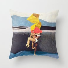 The Lovers vs the Elements - PAINTING Throw Pillow