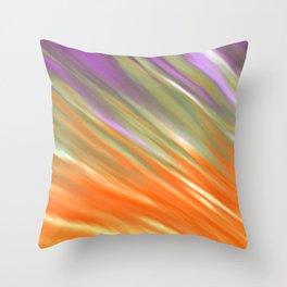 Tangerine Aurora Throw Pillow