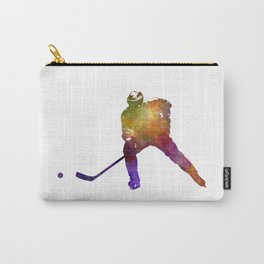 Hockey skater in watercolor Carry-All Pouch