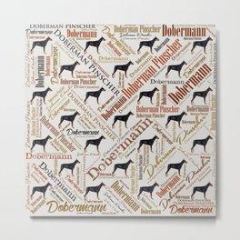 Dobermann Word Art Metal Print
