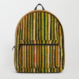 Bamboo fence, texture Backpack