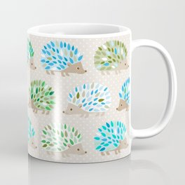Hedgehog polkadot in green and blue Coffee Mug