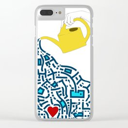 Nourishing The Heart Clear iPhone Case