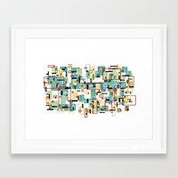 mod Framed Art Prints featuring Mod by Tina Carroll