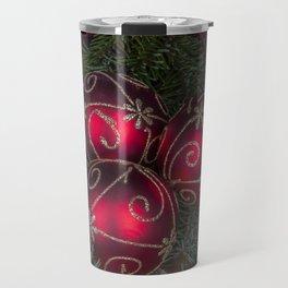 Red Christmas Balls Travel Mug