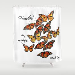 Freedom in Motion Shower Curtain
