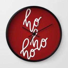 HoHoHo Merry Christmas Wall Clock
