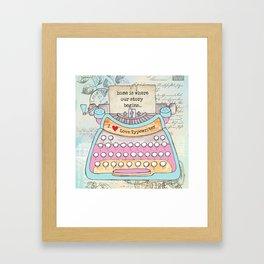 Typewriter #6 Framed Art Print