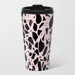 Terrazzo Spot Black on Blush Travel Mug